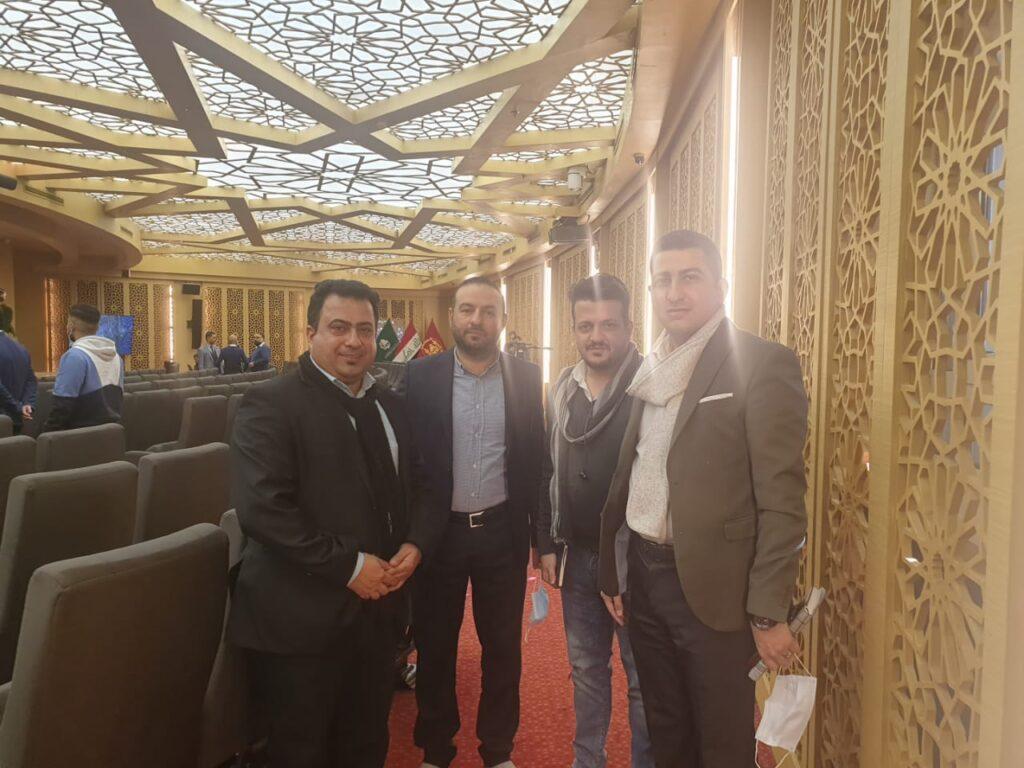 جانب من زيارة الوفد في الملتقى