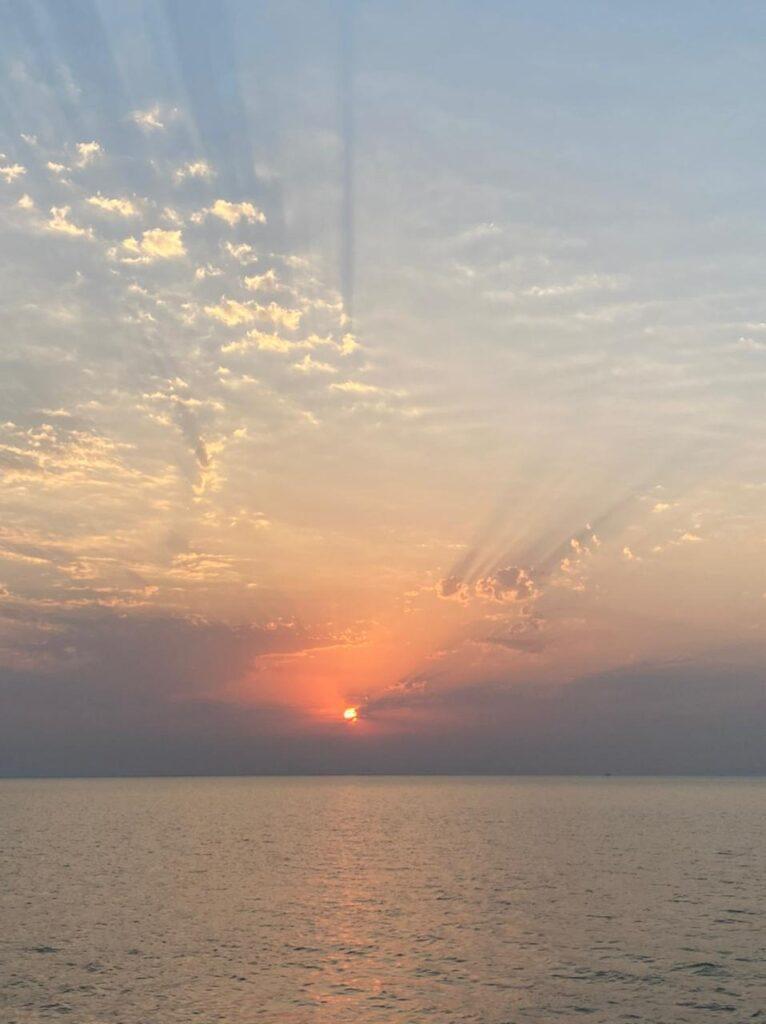 صورة لغروب الشمس
