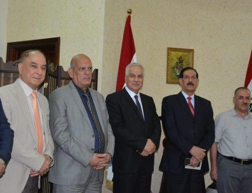 السيد العميد يستقبل المستشار في رئاسة الجمهورية الاستاذ الدكتور عبد ذياب العجيلي