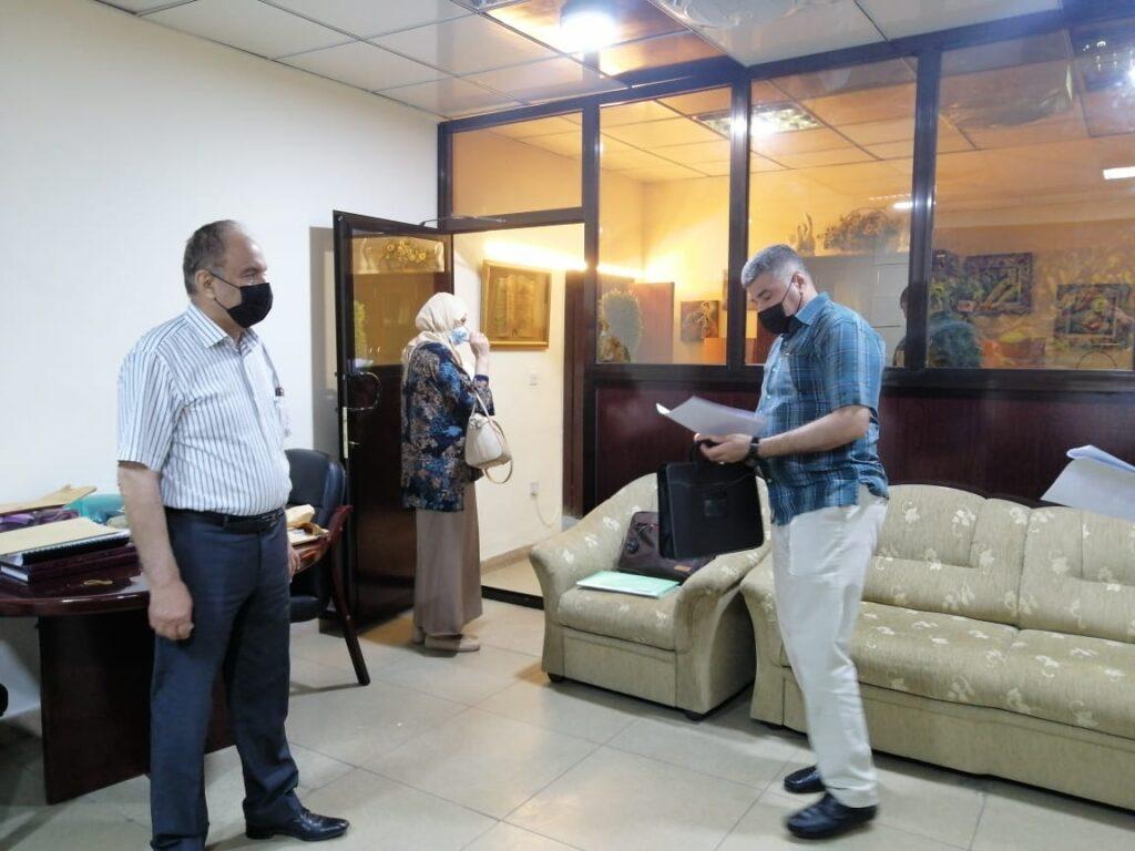 لجنة جهاز والاشراف في شعبة الترقيات العلمية